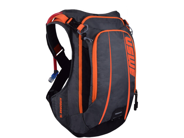 USWE Airborne 15 Rygsæk grå/orange (2019) | Travel bags